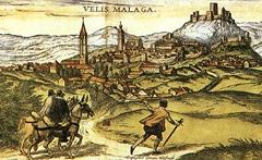 Grabado de Joris Hoefnagel con una vista general de Vélez-Málaga en 1572.