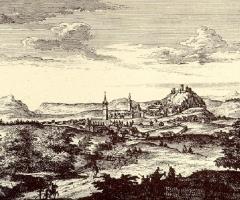 Vista general de Vélez-Málaga hacia 1741.