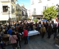 La fiesta de los comerciantes durante la Navidad es un evento que congrega a numeroso público.