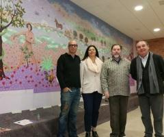 El mural incluye la visión del paraíso de Evaristo Guerra.