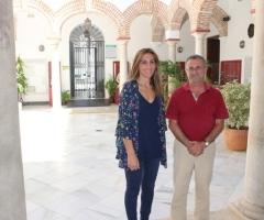Alarcón y Martín, en el palacio de Beniel.